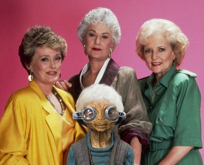 Maz Kanata and the Golden Girls
