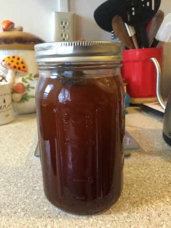 Cold brew coffee just before going into fridge