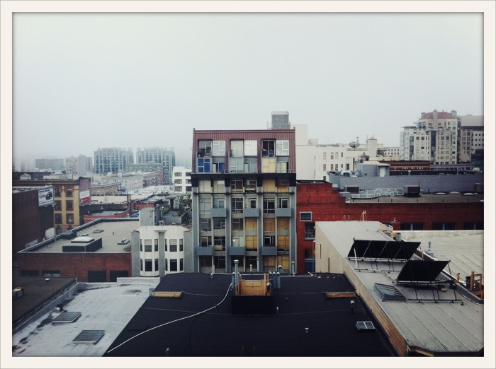 San Francisco on a foggy day